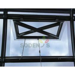 Jumta logi, ventilācijas atveres Siltumnīcas jumta logi Strele